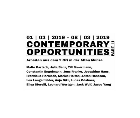 Contemporary Opportunities Part III